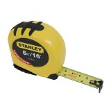 STANLEY Lever Lock Tape 5M [30-815] - Meteran Manual